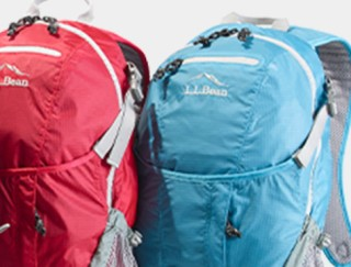 Close-up of 2 day packs.