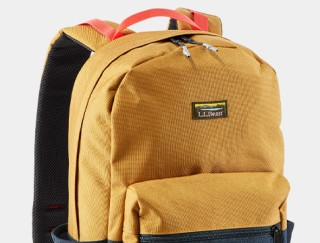 Close-up of a backpack.