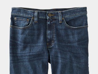 Close-up of a pair of men's jeans.
