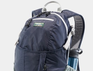 Close-up of a day pack.