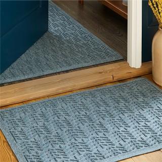 Waterhog mat in a doorway