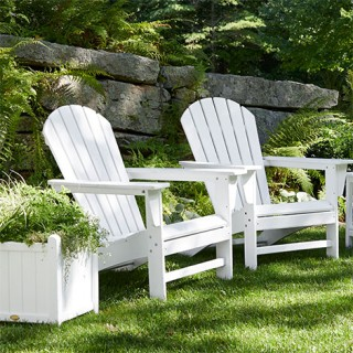 Pair of outdoor Adirondack chairs