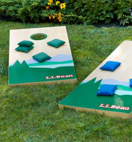 Cornhole game outside