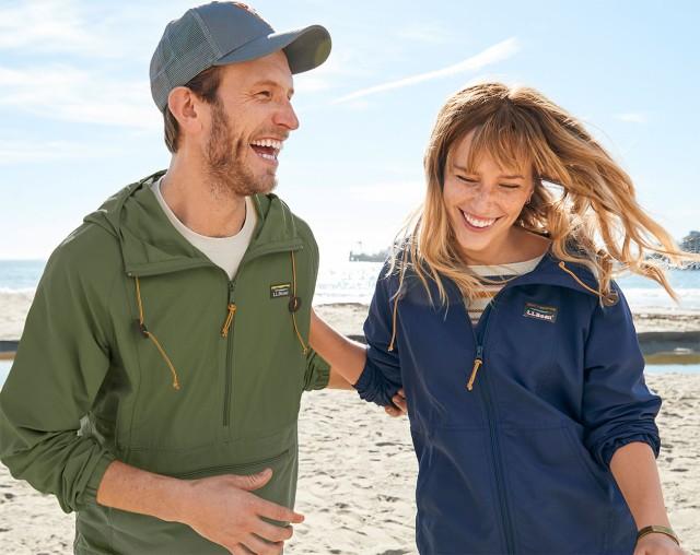 Couple enjoying the outside on the beach