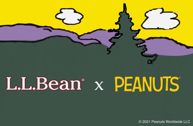L.L.Bean and Peanuts logos.