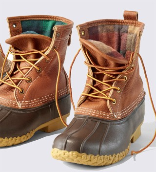 Pair of Flannel and Fleece Lined Bean Boots