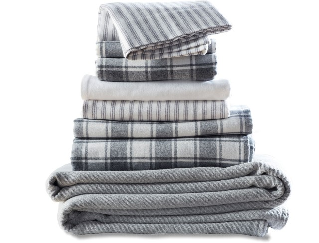 Stack of flannel bedding