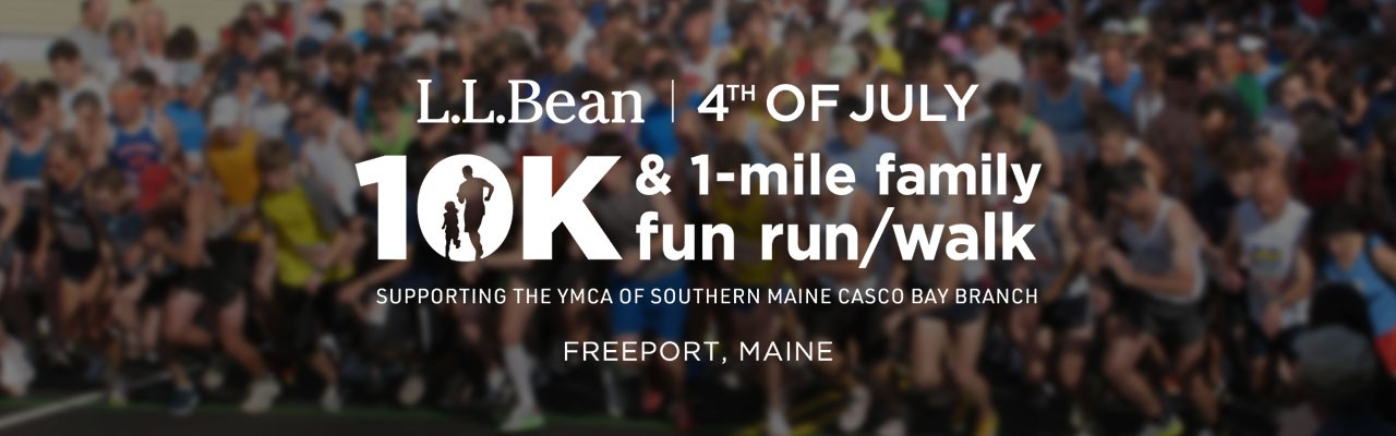 People running in the July 4th L.L.Bean road race