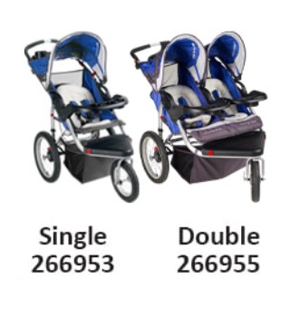 Single Stroller 266953 and Double Stroller 266955