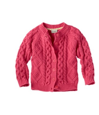 Fisherman's/open stitch cardigan sweater