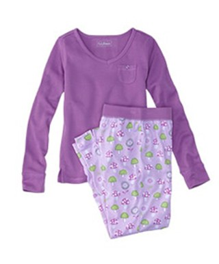 Jersey Knit Girls' Pajamas
