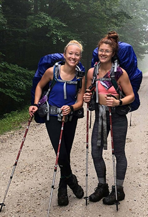 A photo of two L.L.Bean employees during their hike on the Appalachian Trail.