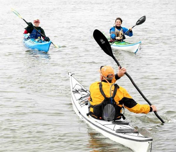 Trio of kayakers.