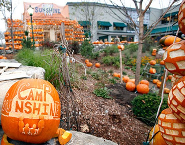 Carved Halloween pumpkins on our Freeport campus.
