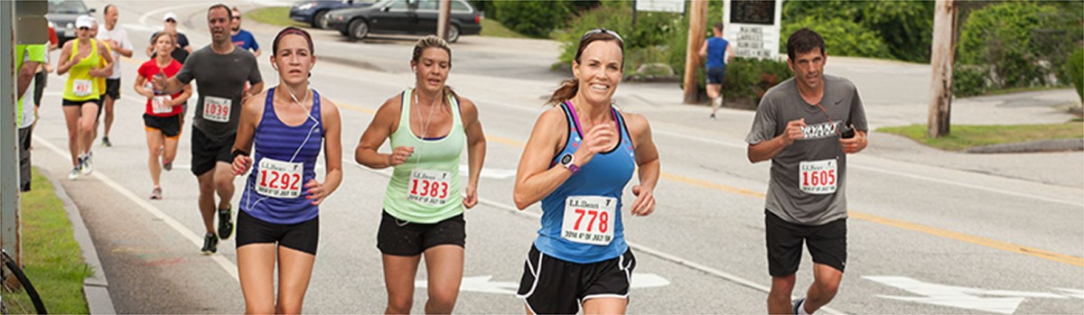 Runners at a charity event in Freeport, Maine.