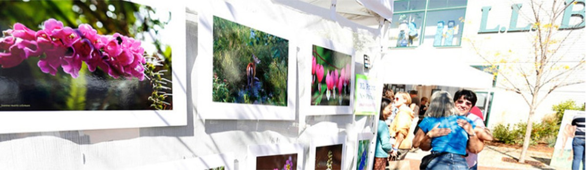 Summer art and craft show at the L.L.Bean flagship store in Freeport.