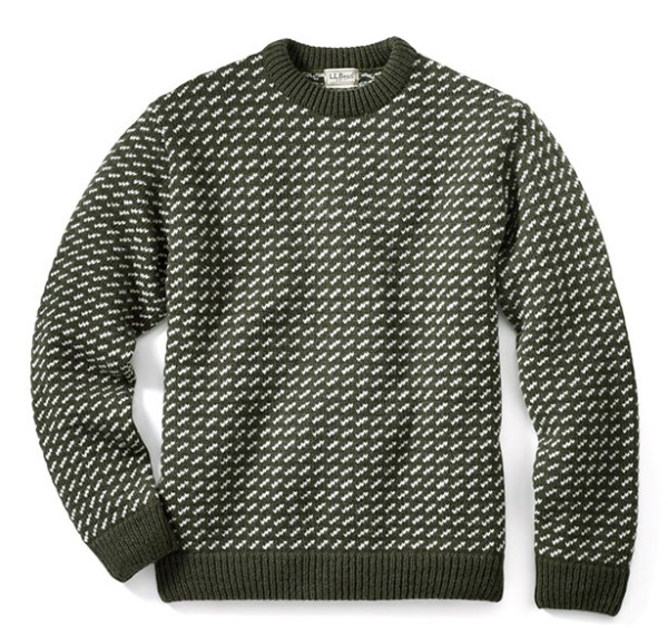 The original L.L.Bean Norwegian Sweater.