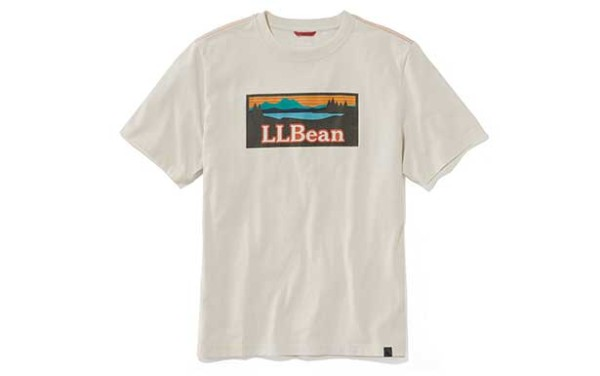 An L.L.Bean shirt with the Sunrise over Katahdin logo.