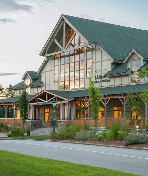 L.L. Bean Hunting & Fishing store, built to LEED standards.