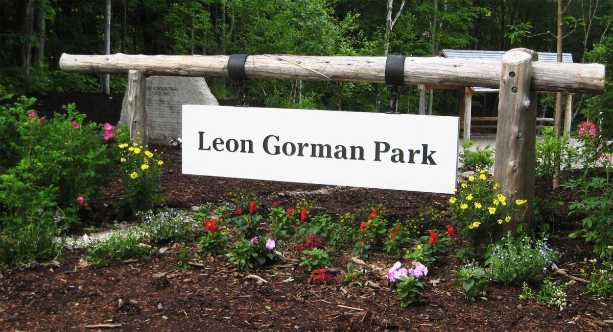 Entrance to the Leon Gorman Park.