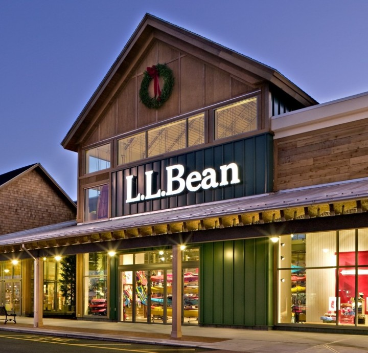 The exterior of an L.L.Bean store.