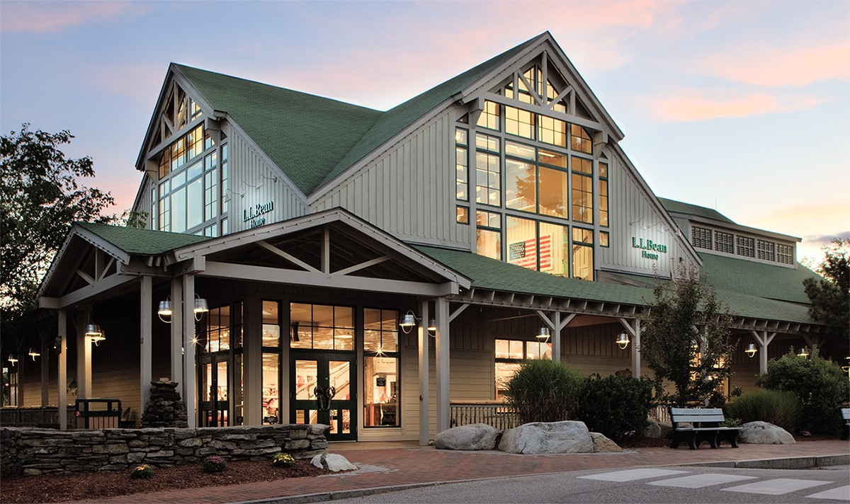 An LEED-certified L.L.Bean store.