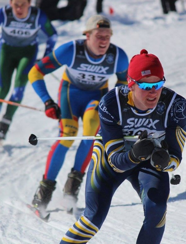 NENSA skiers competing.