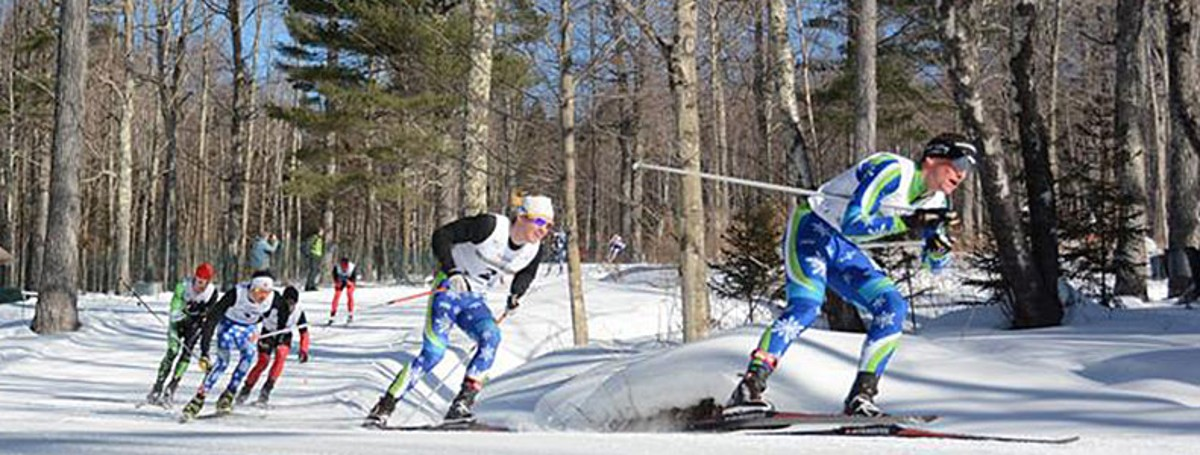 NENSA skiers racing at an event.