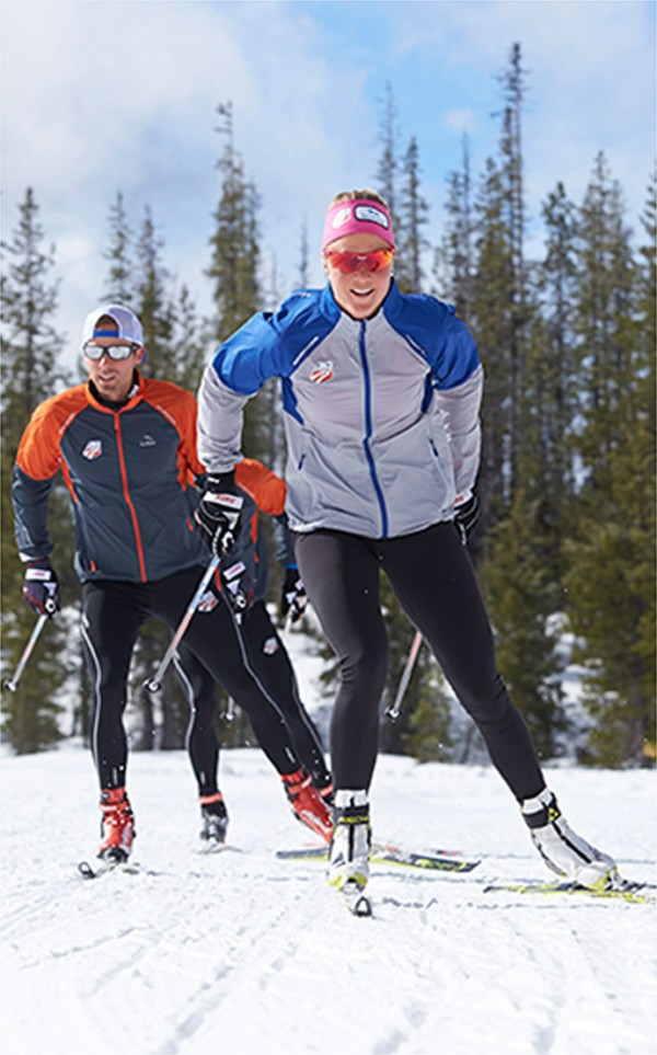 U.S. Ski Team members training in L.L.Bean apparel.