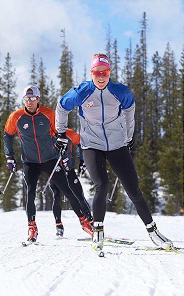 U.S. Ski Team members training in L.L.Bean apparel.