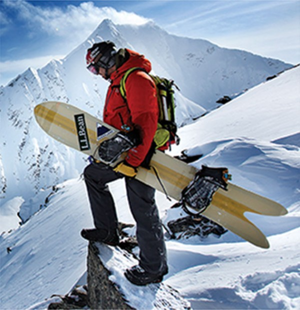 L.L.Bean testing and design partner Seth Wescott in Alaska.