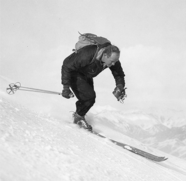 Warren Miller skiing.