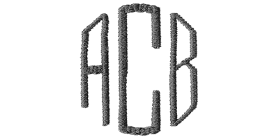 Image of Classic monogram style.