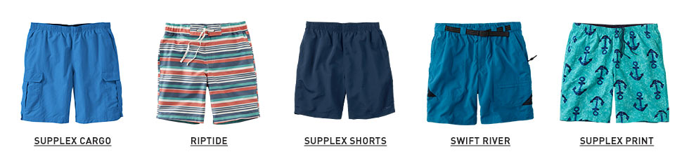 Images of men's swim shorts.
