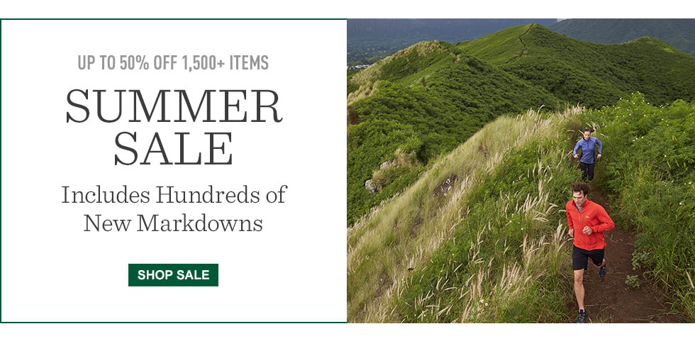 Summer sale. Up to 50% off 1,500+ items. Includes hundreds of new markdowns.