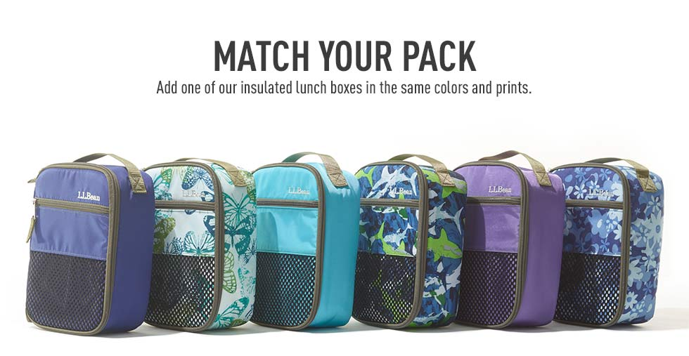 Match your pack with an insulated lunch box in the same color or print.
