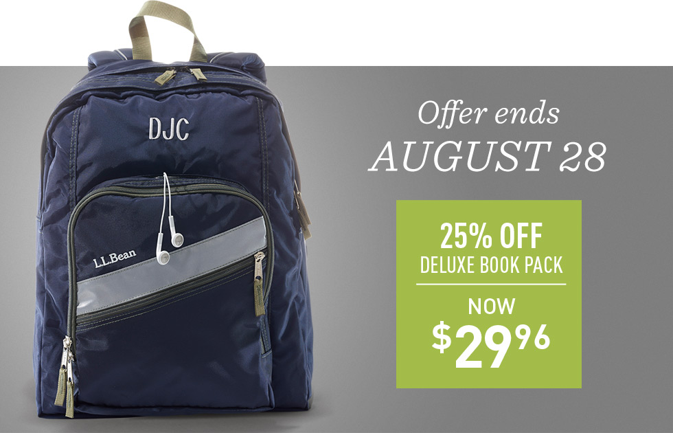 25% off Deluxe Book Pack. Now $29.96. Offer ends August 28.