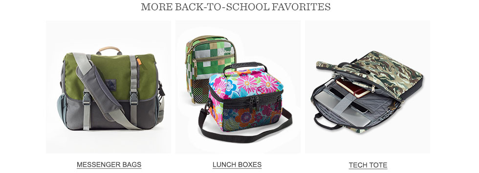 More back-to-school favorites.