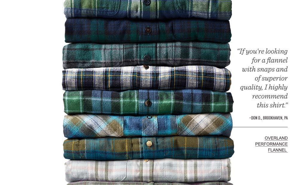 """If you're looking for a flannel with snaps and of superior quality, I highly recommend this shirt. – Don D., Brookhaven, PA."