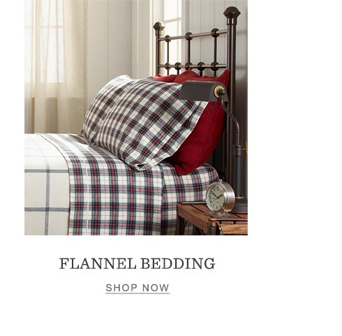 Flannel bedding.