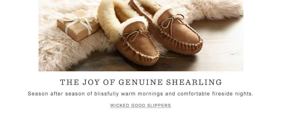 The joy of genuine shearling. Season after season of blissfully warm mornings and comfortable fireside nights.