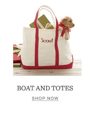 Boat and Totes.