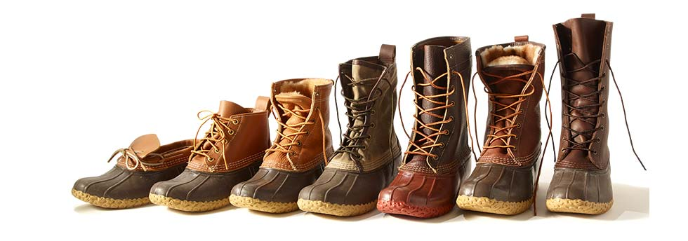 Image of different styles of L.L.Bean Boots.