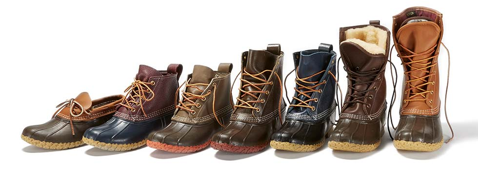 Image of L.L.Bean Boots in different styles and sizes.