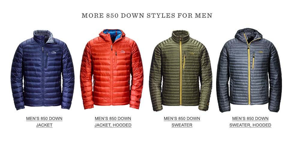 More 850 Down Styles for Men.