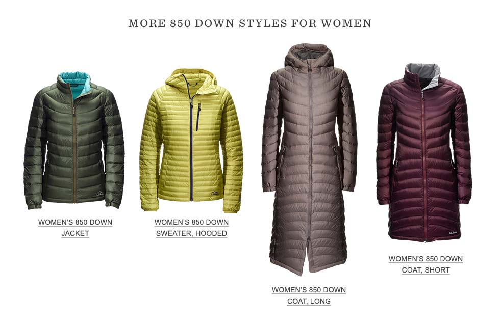 More 850 Down Styles for Women.