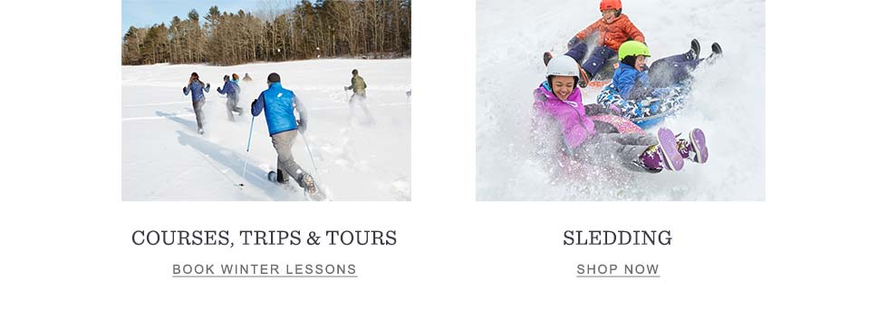 Outdoor Discovery Schools and Sledding.