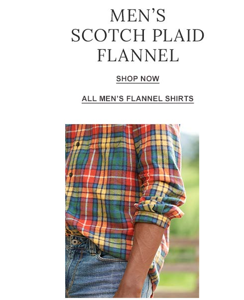 Men's Scotch Plaid Flannel