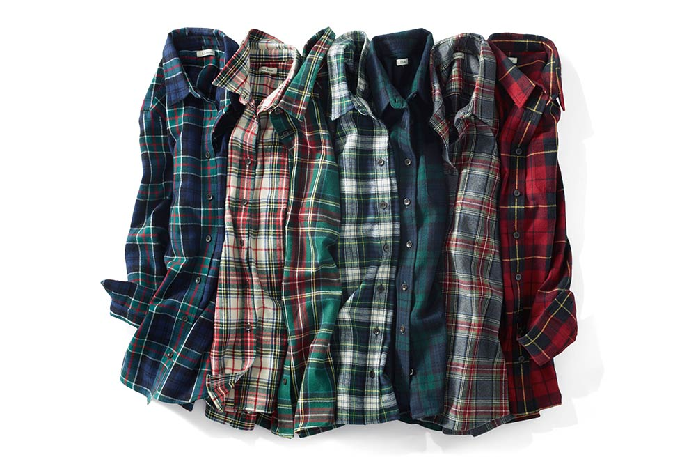Several Styles of Flannel Shirts.