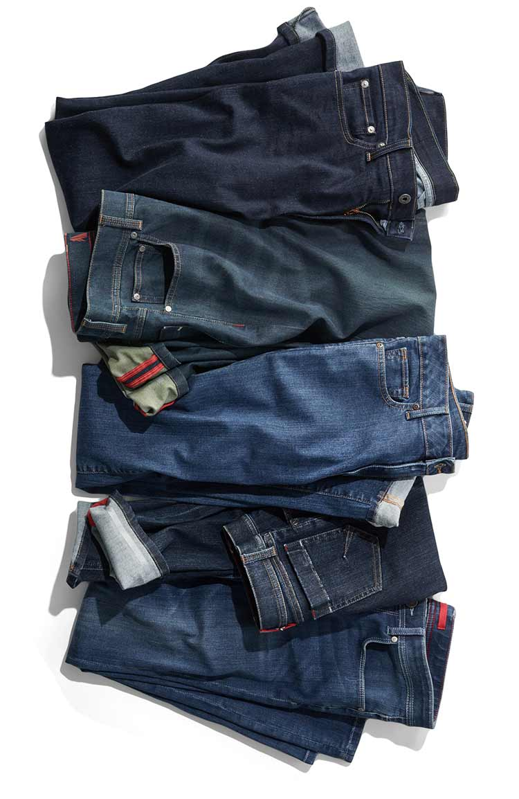 Several styles of L.L.Bean Jeans.